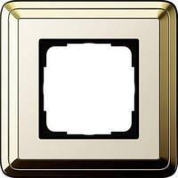 Рамка Gira ClassiX 1 п., латунь кремовый (0211633)