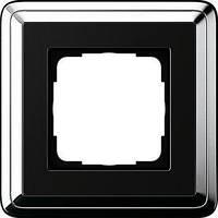 Рамка Gira ClassiX 1 п., хром черный (0211642)