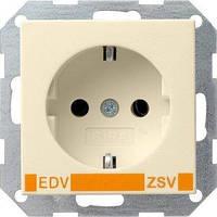 Розетка Gira System 55 2К+З, EDV и ZSV, кремовый (046401)