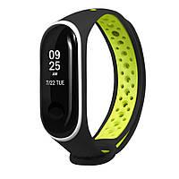 Ремешок Nike для Xiaomi Mi Band 3/Mi Band 4 Черный-зеленый