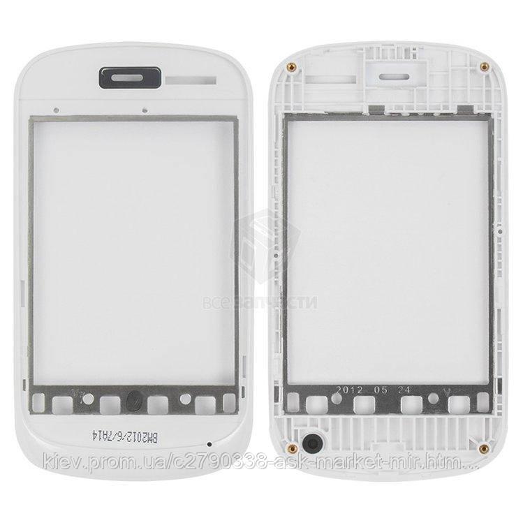 Передняя панель корпуса (рамка крепления дисплея) для Fly IQ235 Uno Original White #310100669