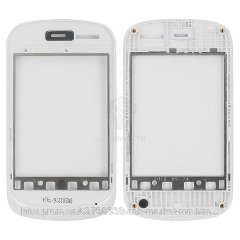 Передняя панель корпуса (рамка крепления дисплея) для Fly IQ235 Uno Original White #310100669, фото 2
