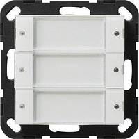 Выключатель Gira System 55 3 кл., сенсорный, 24В, прозрачный белый (2003100)