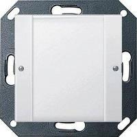 Вимикач Gira System 55 1 кл., сенсорний, 24В, прозорий білий (2001100)