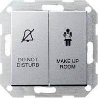 """Вимикач Gira System 55, """"Не турбувати / Прибирання"""", алюміній (110426)"""