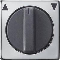ЦП вимикача жалюзі Gira System 55, поворотний, хром (0666605)