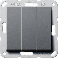 Вимикач Gira System 55 3 кл., антрацит (284428)