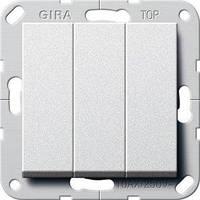 Вимикач Gira System 55 3 кл., алюміній (284426)