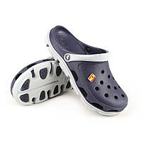 Кроксы crocs сабо сланцы от Jose Amorales синие с серым, размер 36