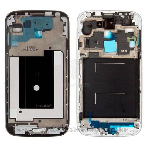 Передняя панель корпуса (рамка крепления дисплея) для Samsung Galaxy S4 I9500 Original Black, фото 2