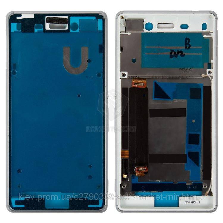 Передняя панель корпуса (рамка крепления дисплея) для Sony Xperia M4 Aqua E2306, Xperia M4 Aqua E2353 Original