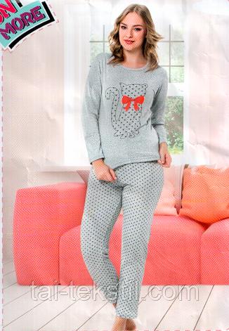 Пижама женская теплая байковая DALMINA Турция, фото 2