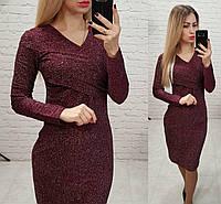 Сукня люрекс арт. M322 марсала, фото 1