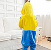 Пижама миньон детская кигуруми Желтая 122 см, фото 3