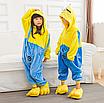 Пижама миньон детская кигуруми Желтая 122 см, фото 4