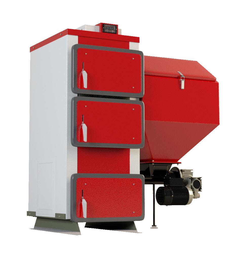 Твердотопливные котлы с автоматической подачей топлива Heiztechnik Q Bio 55 кВт (Польша)