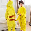 Пижама детская кигуруми Пикачу Pokemon Pikachu Желтый 122 см, фото 7