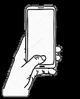 Тачскрин для Sony D2302 Xperia M2 Dual Sim S50h/D2303/D2305/D2306, белый
