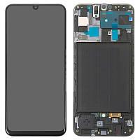 Дисплей для Samsung Galaxy A50 (2019) A505, модуль (экран) с рамкой, оригинал (Super Amoled)