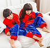 Пижама спайдермен детская кигуруми Красный 122 см, фото 3