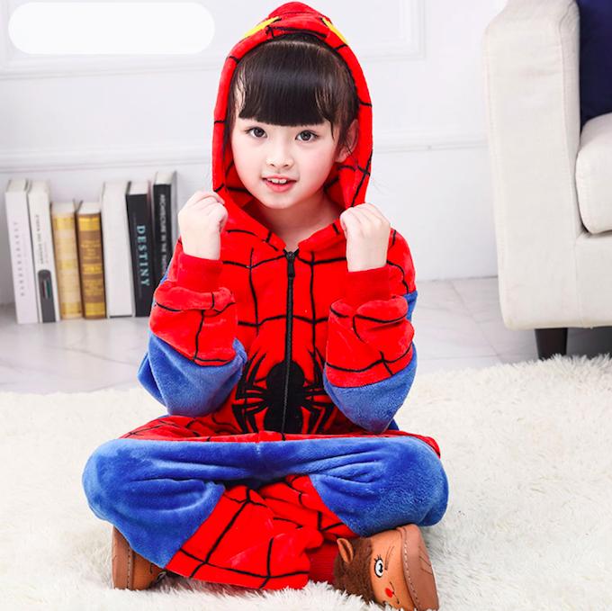 Пижама спайдермен детская кигуруми Красный 122 см