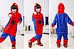 Пижама спайдермен детская кигуруми Красный 122 см, фото 5
