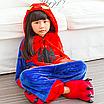 Пижама спайдермен детская кигуруми Красный 122 см, фото 4