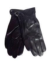 Шкіряні чоловічі перчатки, шерсть сітка (розміри 10,5-12,5) чорні