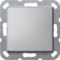 Выключатель Gira System 55 1 кл., проходной, хром (0126605)