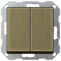 Выключатель Gira System 55 2 кл., бронза (0125603)