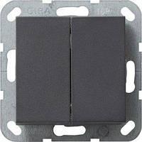 Выключатель Gira System 55 2 кл., проходной, антрацит (012828)