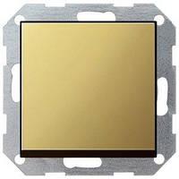 Выключатель Gira System 55 1 кл., перекрестный, латунь (0127604)