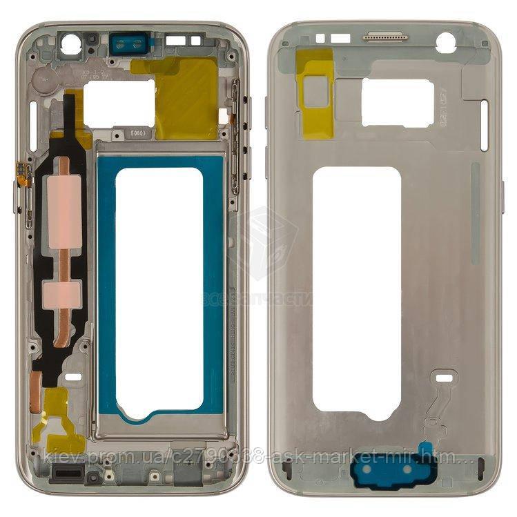Средняя часть корпуса для Samsung Galaxy S7 G930F Original Gold