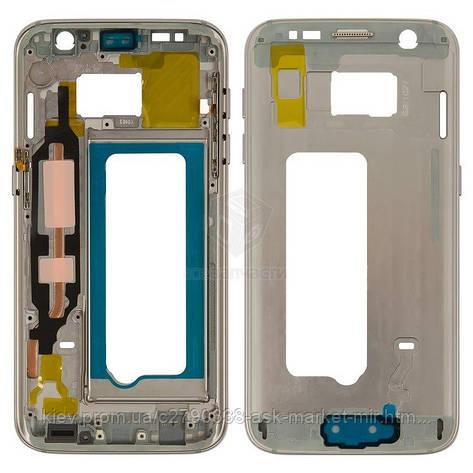 Средняя часть корпуса для Samsung Galaxy S7 G930F Original Gold, фото 2