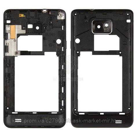 Средняя часть корпуса для Samsung Galaxy S2 I9100 Original Black, фото 2