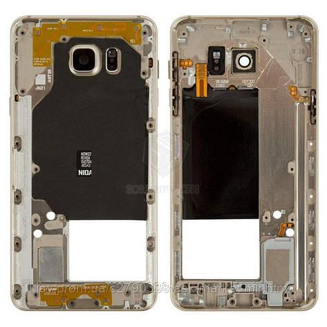 Средняя часть корпуса для Samsung Galaxy Note 5 (N9200, N920F), Galaxy Note 5 N920C Original Gold, фото 2