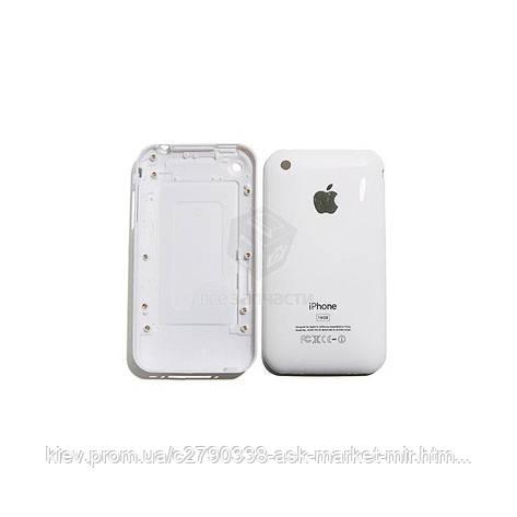 Задняя панель корпуса (крышка аккумулятора) для Apple iPhone 3G 16 ГБ Original White, фото 2