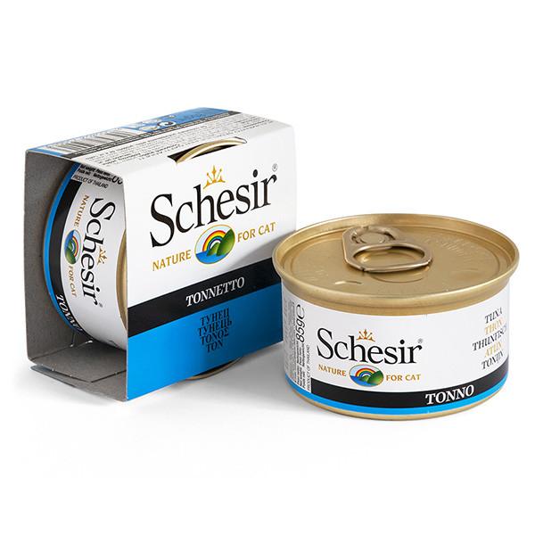 Влажный корм для кошек Schesir Tuna с тунцом в желе 85 г