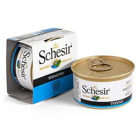 Вологий корм для кішок Schesir Tuna з тунцем в желе 85 г