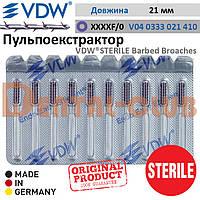 Пульпоекстрактор ручний ВДВ стерильний (VDW ® STERILE Barbed Broaches), блістерна упаковка 10 шт., розмір XXXXF, №0, фіолетовий
