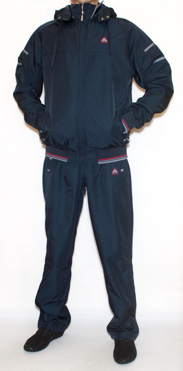 Спортивний утеплений костюм чоловічий Soccer |Плащівка + фліс| (2XL)