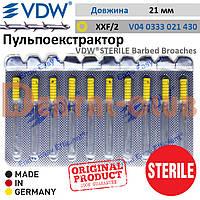 Пульпоекстрактор ручний ВДВ стерильний (VDW ® STERILE Barbed Broaches), блістерна упаковка 10 шт., розмір XXF, №2, жовтий