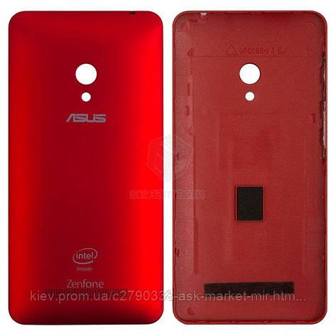 Задня панель корпусу (кришка акумулятора) для Asus ZenFone 5 A501CG Original Red З бічними кнопками, фото 2