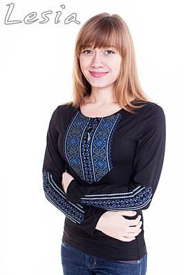 Жіноча вишиванка Мережка синя