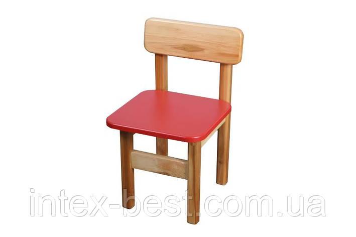 Стул деревянный (красный) Bambi (Финекс Плюс), фото 2
