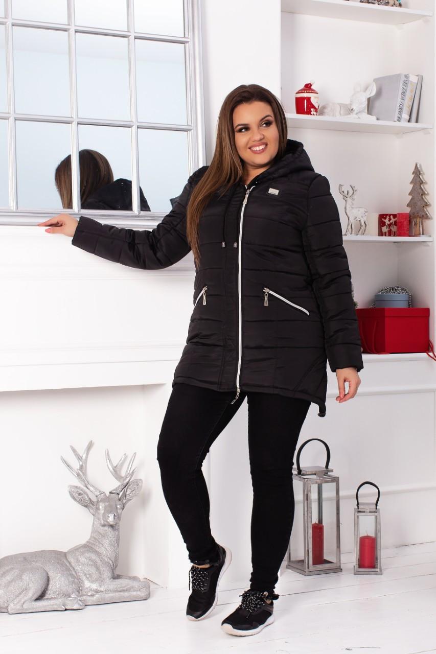 Куртка парку зимова арт. 204 чорний колір