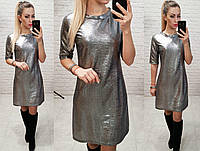 Платье с блеском арт. M323 черное серебро