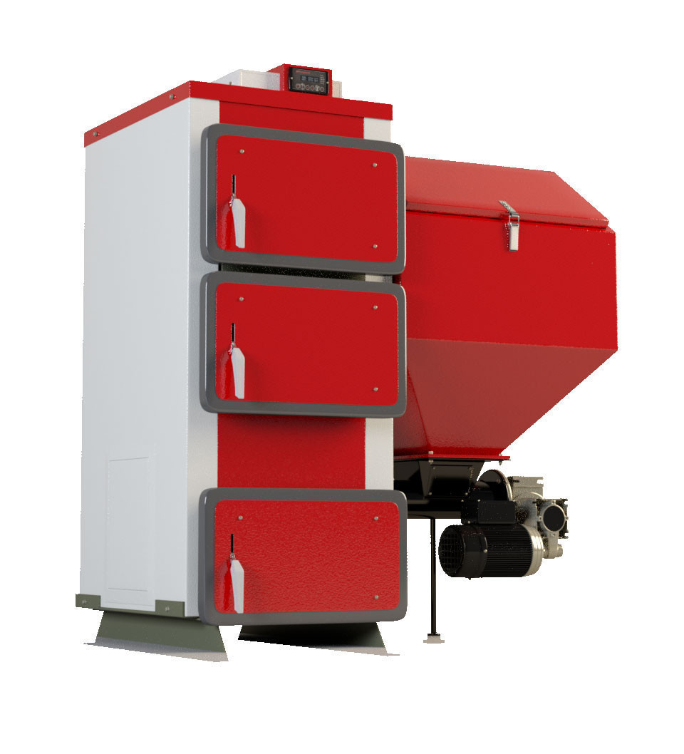 Твердотопливные котлы с автоматической подачей топлива Heiztechnik Q Bio 75 кВт (Польша)