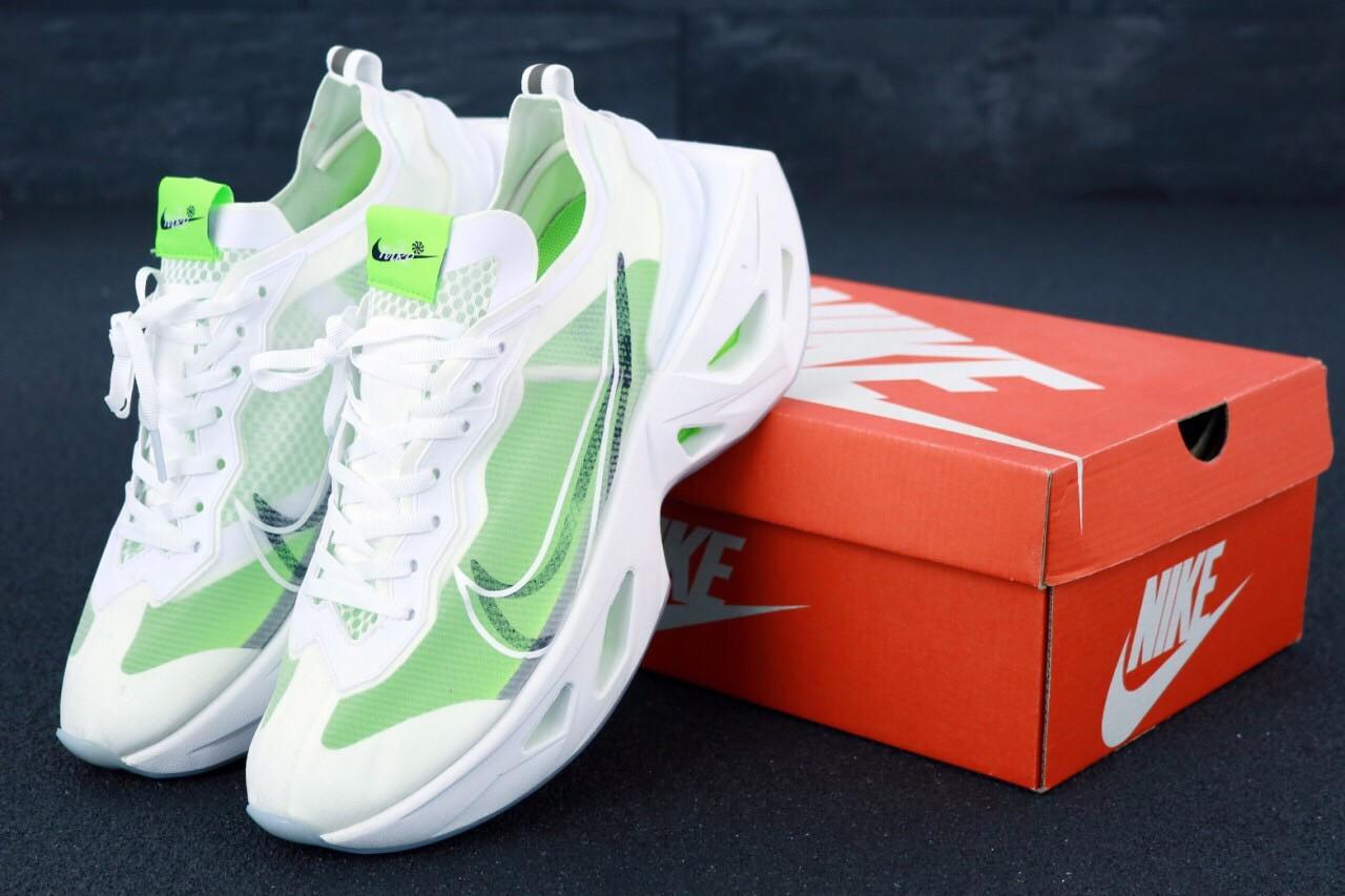 Женские кроссовки Nike Air Zoom Vista Grind White Green. ТОП Реплика ААА класса.