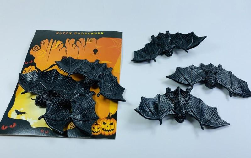 Декоративные летучие мыши набор для Хеллоуина 3 штуки в упаковке